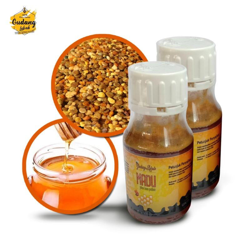 Perpaduan antara madu murni dengan beepollen murni, sehingga memiliki manfaat yang lengakpa untuk menunjang sistem kekebalan tubuh.