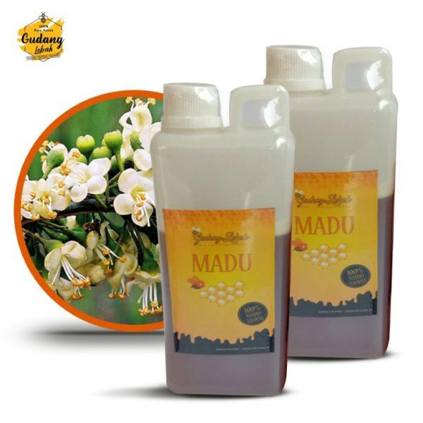 madu randu murni dihasilkan oleh lebah yang digambalakan dari sumber nektar pohon randu, bersumber dari nektar alami bukan buatan maupun oplosan.