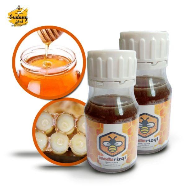 Madu Super royal jelly merupakan madu murni yang disinergikan dengan royal jelly sehingga memiliki manfaat yang lebih luas untuk kesehatan tubuh
