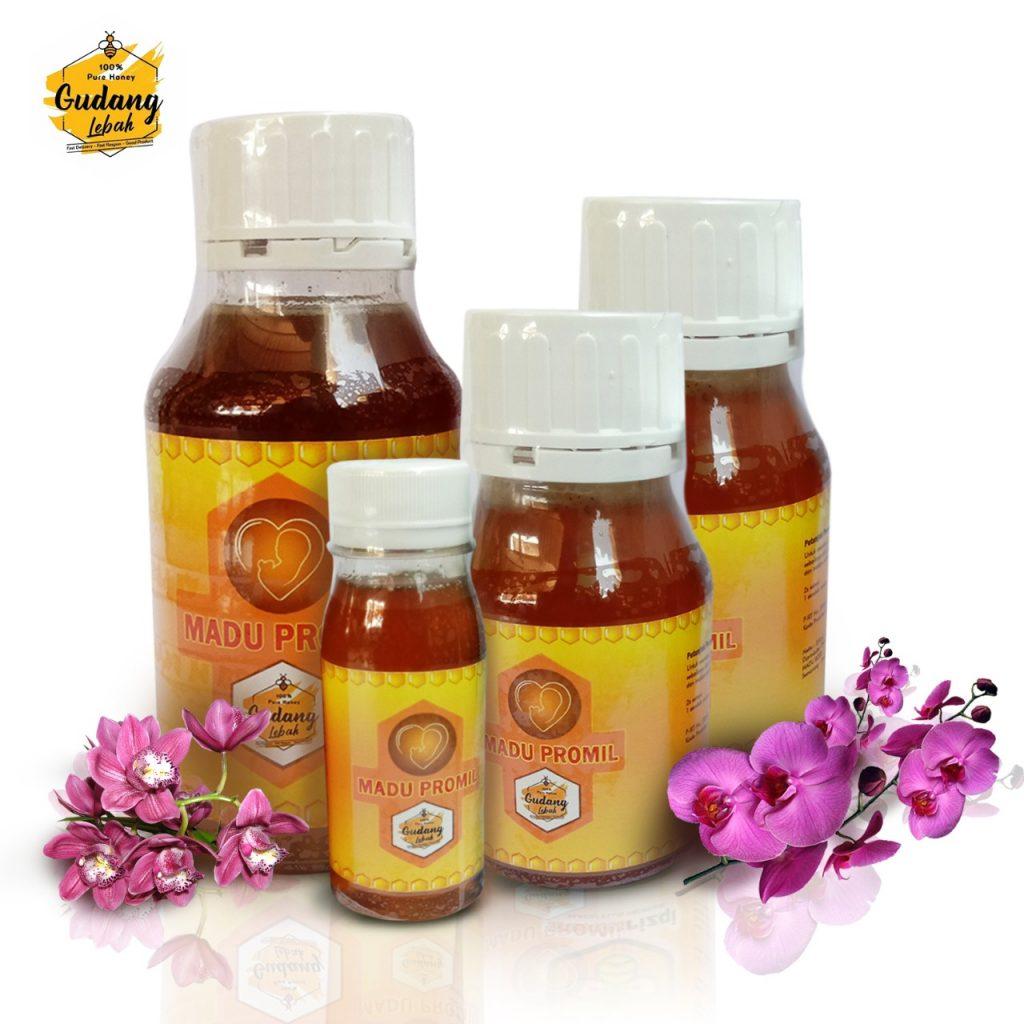madu promil merupakan madu murni yang dikombinasi dengan royal jelly murni dengan komposisi yang ideal sehingga memiliki manfaat yang sangat baik untuk meningkatkan kesuburan pria dan wanita.