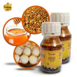 madu super 3 in 1 merupakan perpaduan optimal dari madu murni, royal jelly dan beepollen sehingga memiliki manfaat yang optimal untuk berbagai keluhan